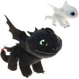 """10-202530, plüschfiguren """"dragons"""" 30 cm, """"ohnezahn und tagschatten"""" zum kinofilm """"drachenzähmen"""