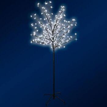 Posten Restposten Disconter LED Lichterbaum höhe150 cm leuchtender Kirschbaum 200 LED Lämpchen