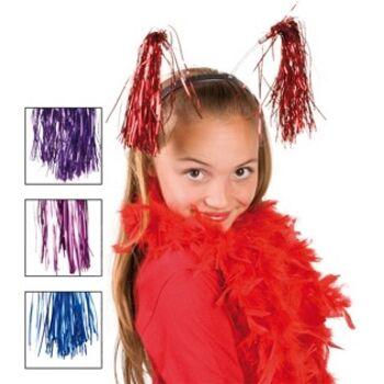 27-43043, Haarreif mit Lamettafäden, für Kinder und Erwachsene, Partyknaller