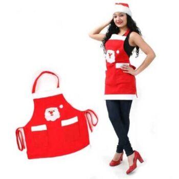 27-46808, Nikolausschürze, Party, Kostüm, mit Weihnachtsmann
