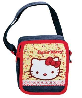 27-49246, Hello Kitty Tragetasche Denim Handtasche, Strandtasche, Einkaufstasche, Kindergartentasche Freizeittasche