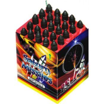 Saturn Missiles 25-Schuß Feuerwerk - Pfeifen Batterie f Silvester