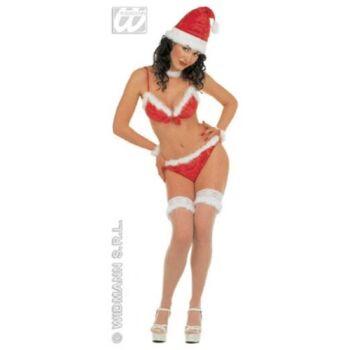 27-51826, sexy Weihnachtsköstüm Set, Bikini Miss Santa, 7-teilig