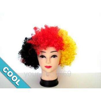 Afro-Fan-Perücke in Deutschland-Farben