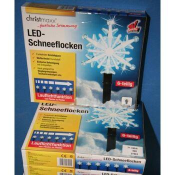 LED Scheeflocke mit Lauflichtfunktion
