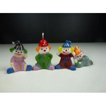 Clown Kerzen 4er Pack, , Partykerzen, Geburtstagskerzen