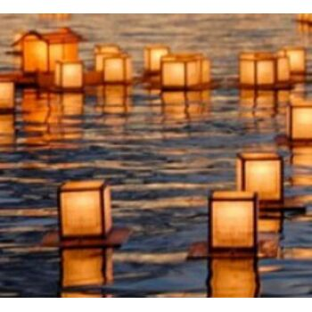 10-580000, Wasserlaterne, Wasserlampion, inkl. Teelicht, bekannt aus TV (James Bond)