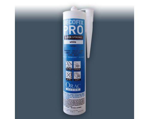 Montagekleber Acrylkleber Orac Decor FDP500 Kleber DecoFix Pro Acryl Kartusche 310 ml | Für Zierleisten und Paneele