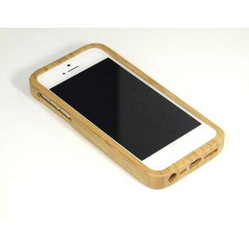 t4c Echtholz Bambus Cover für iPhone 5 - Holz Hülle Case Hardcase Handy Schale