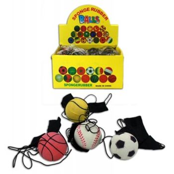 27-43725, Sportball 6,5 cm, mit Handmanschette, Springball, Flummi, Hundeball, Katzenball+++++