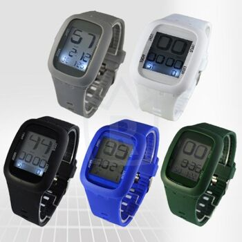 LED touch screen Digitaluhr 10 Farben