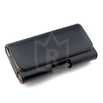 Schwarze Lederschutzhülle für Smartphones