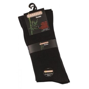 Vincent Creation® Unisex BAMBUS-Socken mit nahtloser Spitze in schwarz