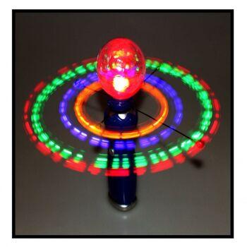 10-683600, LED Karussell mit Discokugel, Wirbelnde, farbwechselnde Leuchteffekte