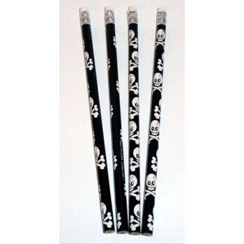27-40694, Bleistifte mit Piraten/Totenkopf, mit Radiergummi