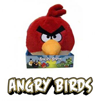 10-801670, Angry Birds mit Sound 20 cm, Lizenzware