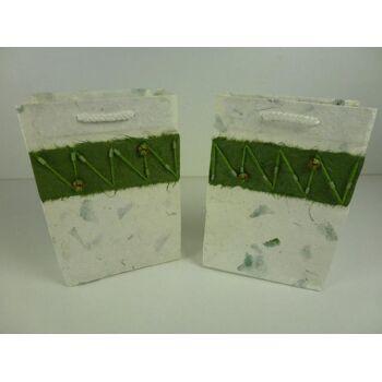 3D Geschenktüten, mit Holzperlen, extravagant, Geschenbeutel