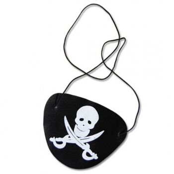 10-541641, Piraten Augenklappe, Totenkopf/Säbel, Partyknaller, Kostüm, Event, Piratenparty