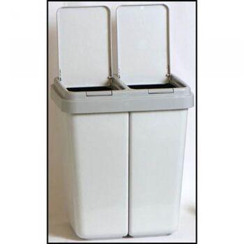 Doppel Mülleimer, 2 x 25 Liter, DUOBIN, mit Federmechanismus
