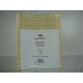 Trennblätter 10er Pack, A4, Karton, Ordnereinlagen