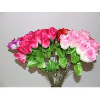 Rosenknospe 50 cm, Rosen Blumen, Seidenblume, Karneval, Fasching, Party, Dekoration