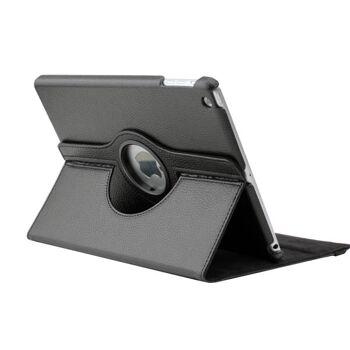 Edle 360° Kunstleder Tasche schwarz für iPad mini inkl. Display-Schutzfolie + Touch-Pen
