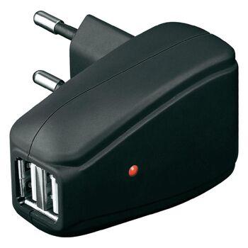 Goobay universales Doppel USB Netzteil mit LED Anzeige