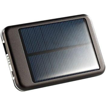 Solar-Powerbank mit 4400 mAh für iPad, iPhone, Navi, Smartphone