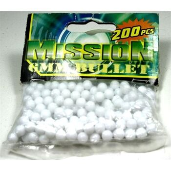 TOP Munition 200er, poliert, ohne Grad, weiss, 6mm, Panzer, Pistole, Softair