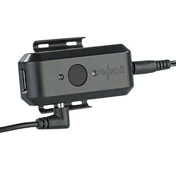 Fahrrad-Dynamo-Ladegerät für Handy, Navi, Mp3 Player etc.