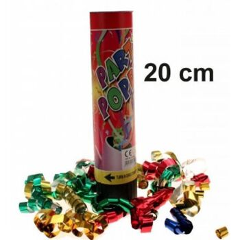 Party Popper, 20 cm, Konfetti Bombe, Shooter, Partyknaller, Kostüm, Karneval, Fasching, Event, usw.