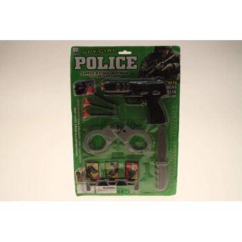 10-54190, Polizeitset mit viel Zubehör, Kostüm, Karneval, Fasching