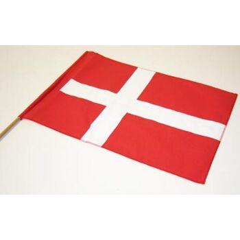 Baumwoll-Fahne Dänemark mit Stab Stockfahne Flagge