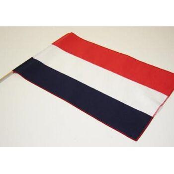 Baumwoll-Fahne Niederlande mit Stab Fahne Stockfahne Flagge