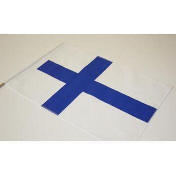 Baumwoll-Länderfahne Flagge Finnland Stockfahne