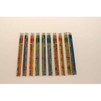 Bleistifte 19 cm, schöne Motive, mit Radiergummi