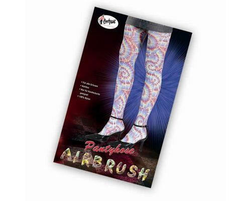Netz - Strumpfhose Pantyhose AirBrush sexy Accessoire f. Schlager Party Karneval