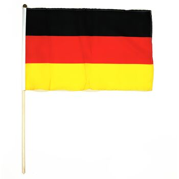 17-14700, Stabfahne Deutschland  30x45cm an 60 cm Holzstab, Fete, Event, Fussball, Stadion, Fahne, Flagge, Party, Event, Fanmile, usw.