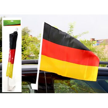 17-20562, stabile Autofahne Deutschland breiter stabiler Stab, Fete, Event, Fussball, Stadion, BRD Farben, Fahne, Flagge, Party, Event, Fanmile, usw.