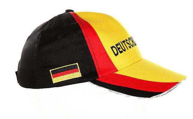 17-20815, BRD Baseball Cap mit Logo und Fahnen, Deutschland Farben, Sommerhut, Sonnenschutz, PArty, Event, Fanmile, usw