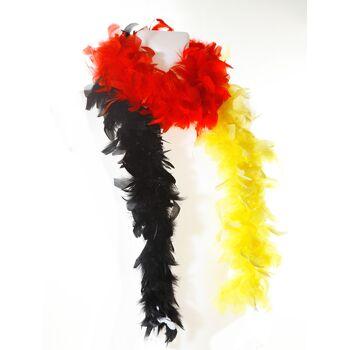 17-13268, Federboa, 180 cm, Deutschland, BRD Farben, Deutschland, Fanmile, Stadion, Event, usw