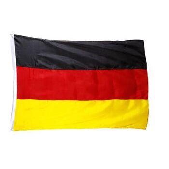 Deutschlandflagge 90 x 150 cm aus glänzendem Satin