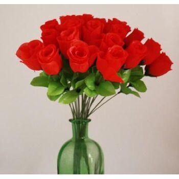06-0760, Rosenknospe 47 cm, rote Rose, Karneval, Party, Valentinstag