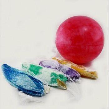 27-42575, Ball Fussball 20 cm, im Netz, marmoriert , Spielball, Wasserball, Strandball