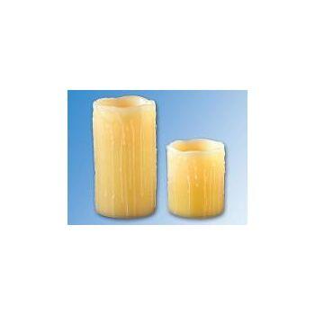 2er Set LED-Wachs-Kerzen mit Luftzug-Sensor, Altlook