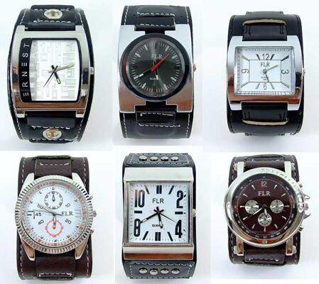 Gemischter Posten von edlen Herren Uhren im Designerlook nur 3,99 Euro