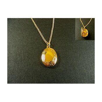Halskette mit aufklappbarem Medaillon