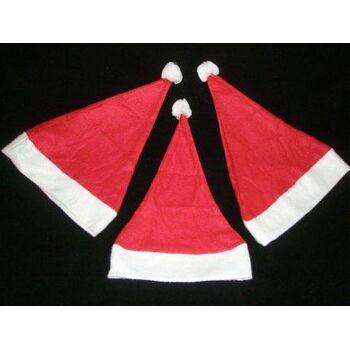 Nikolausmütze aus Filz 38 cm, mit Bommel, Weihnachtsmütze