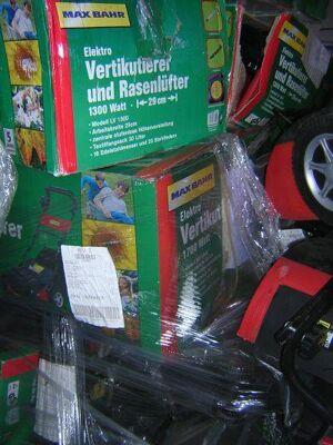 Restposten Sonderposten Baumarktretouren: Rasenmäher, Elektrowerkzeuge, Gartengeräte