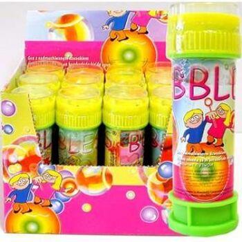 Seifenblasen mit Geduldsspiel, Seifenblasenspiel in Flasche